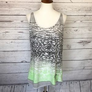 Fox racing gray green tank top large